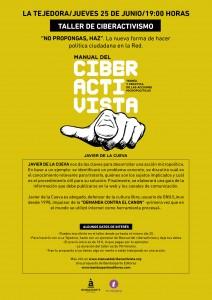 Cartel Taller Ciberactivismo La Tejedora