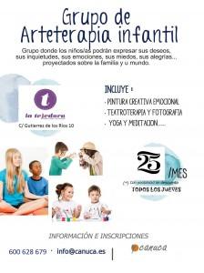 cartel arteterapiainfantil tejedora
